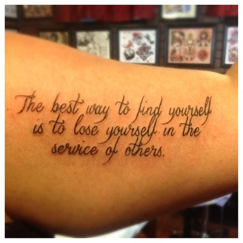 tattoo quotes bicep ghandi quote my new inner bicep tattoo my present to