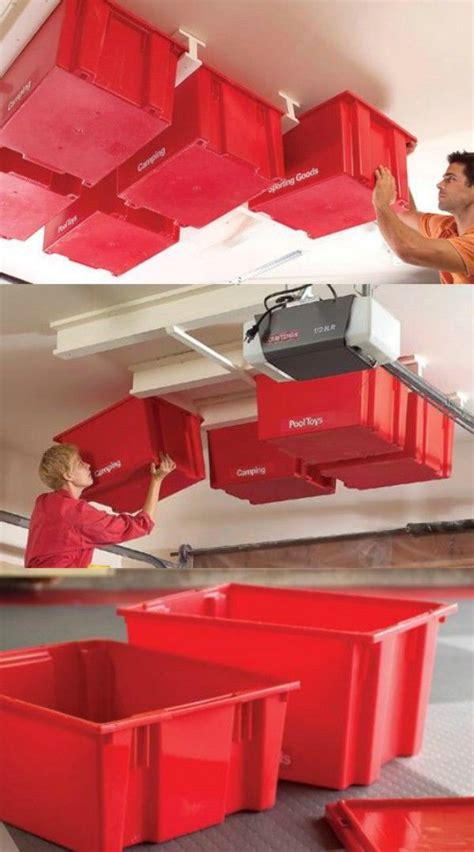 Garage Storage Ideas For Totes Best 25 Ceiling Storage Ideas On Workshop