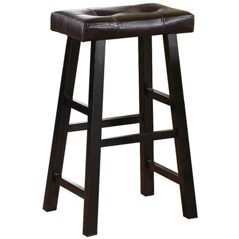 Espresso Wood Bar Stools poundex country series 29 quot bar stool in espresso finish set of 2 f1262
