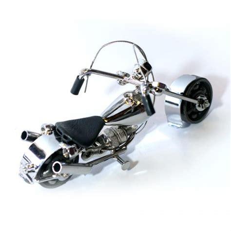 Harley Davidson White Silver 1 harley davidson motorcycle model metal sculpture die cast harley davidson