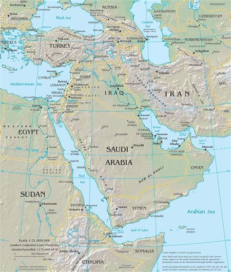 middle east map geography middle east map cc geography