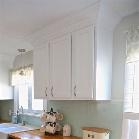 adding crown molding to ikea kitchen cabinets how to make a reverse canvas weekend craft