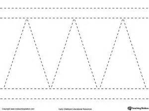 mountain pattern worksheet for kindergarten line tracing diagonal and straight lines motor skills