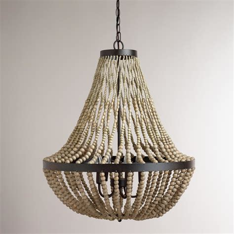 large wood bead chandelier contemporary pendant lighting