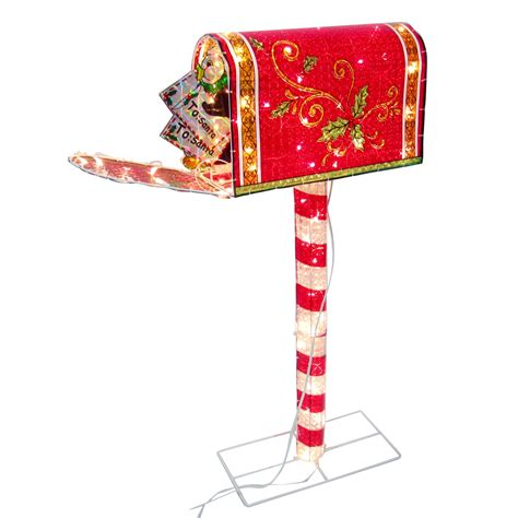 48in animated holographic mailbox 48in animated holographic mailbox seasonal outdoor decor