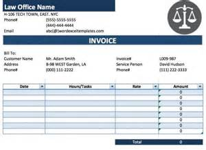 free legal attorney lawyer invoice template excel