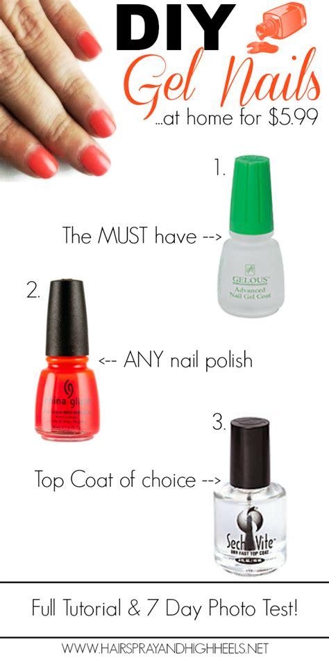 diy gel nails hairspray and highheels