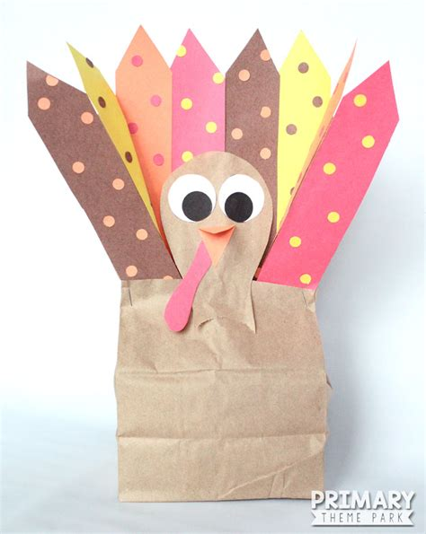 How To Make A Paper Bag Turkey - paper bag turkey craft primary theme park