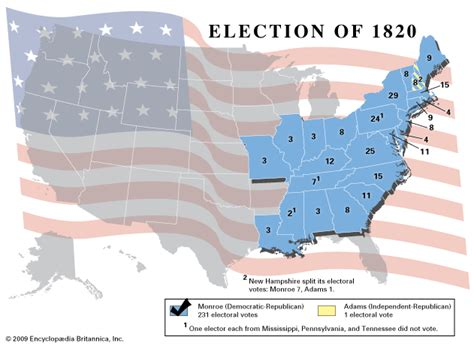 map of us states in 1820 american presidential election 1820 encyclopedia