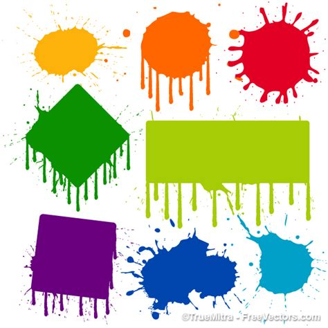 free paint vectors vector illustration