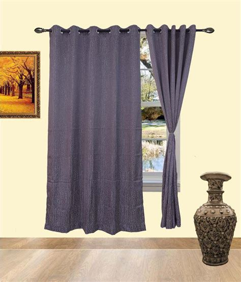 indian cotton curtains deco india grey cotton pvc curtains available at snapdeal