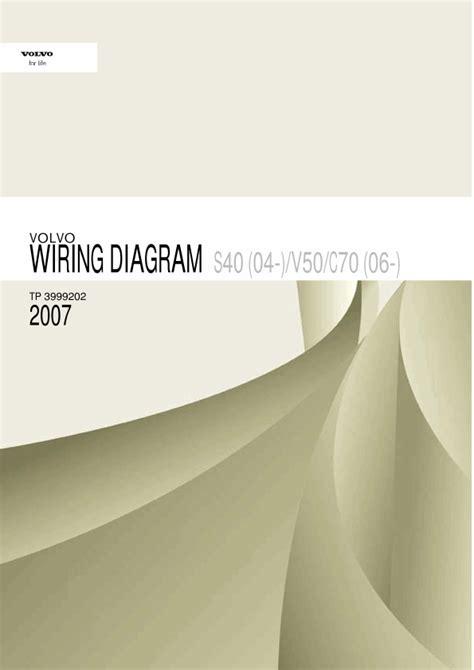2007 volvo s40 v50 c70 wiring diagrams en
