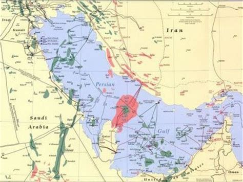 middle east map fields energy predicament october 2008