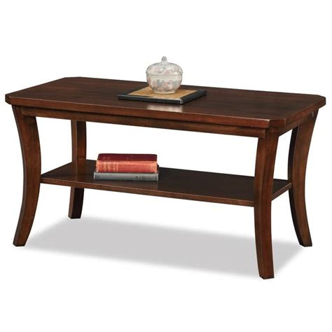 Leick Boa Coffee Table In Chocolate Cherry 10303 Chocolate Coffee Table