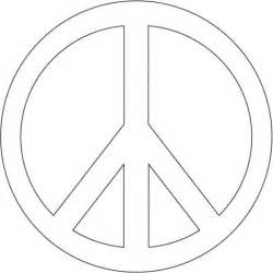 peace sign template printable peace sign template clipart best