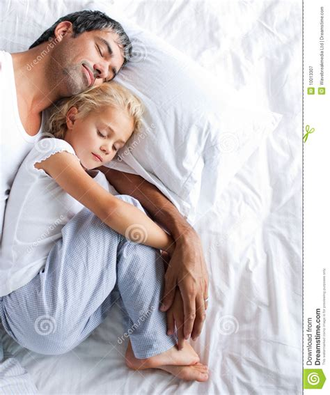 3 Bed House Plans by Father And Daughter Sleeping On Bed Royalty Free Stock