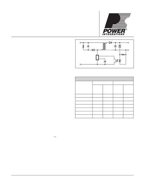 Diskon Ic Tny264pn Line Switcher tny275pn pdf资料下载 电子技术资料 电子数据表 ic pdf datasheet tny275pn