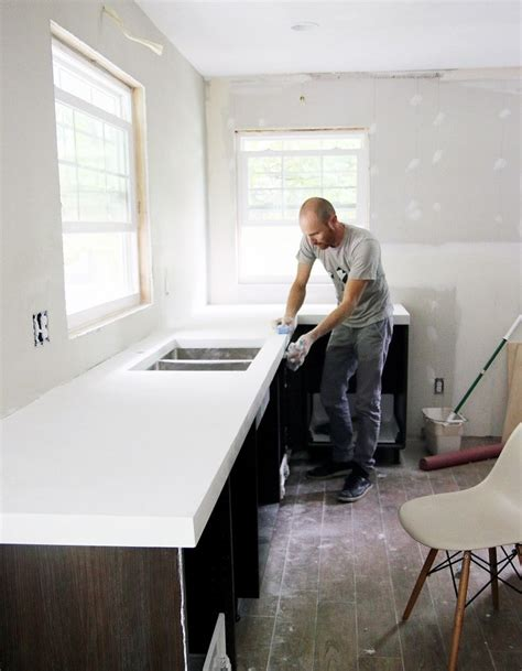 chris loves julia diy white concrete countertops chris loves julia