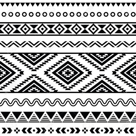 tribal pattern svg 19482468 tribal seamless pattern aztec black and white