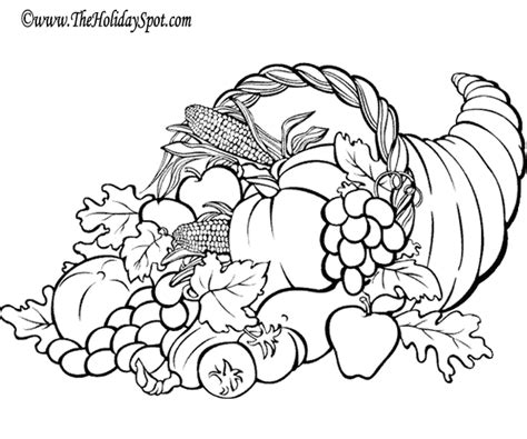 various cornucopias some are coloring pages printables