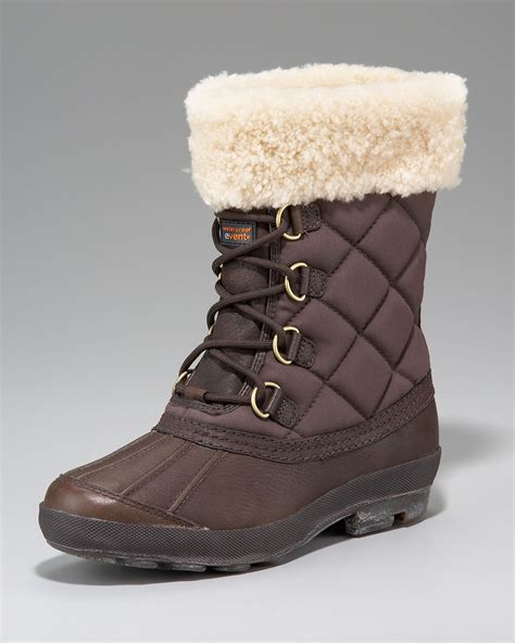 ugg lace up boots ugg newberry lace up boot in brown stout lyst