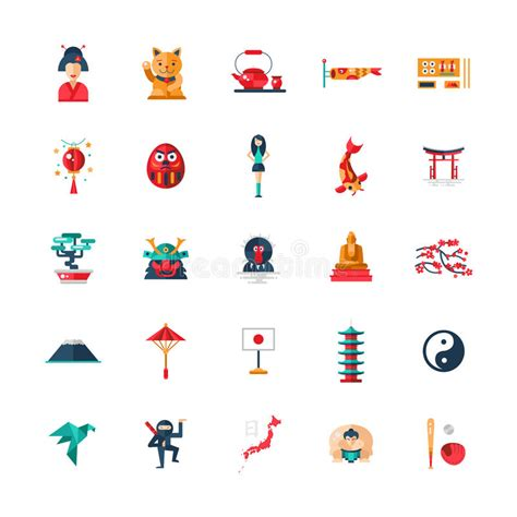 flat icon design japan flat design japan travel icons infographics elements with