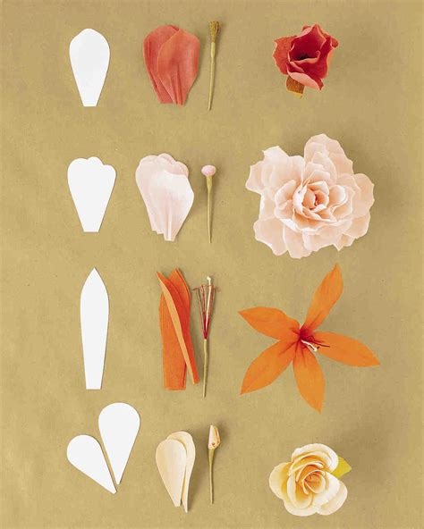 How To Make Crate Paper Flowers - how to make crepe paper flowers martha stewart weddings