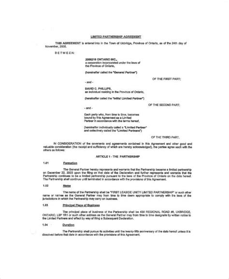 simple business partnership agreement 6 exles in
