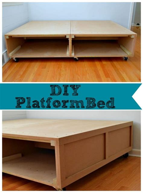 building  diy platform bed  tons  storage
