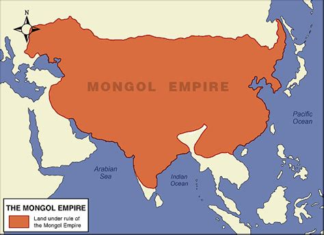 mongol empire map map of the mongol empire the of asia history and maps