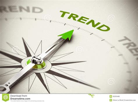 tend to following the trend indicator stock illustration image