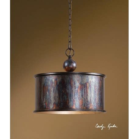 Drum Shaped Pendant Lights Uttermost Oxidized Bronze Albiano 1 Light Drum Shaped Indoor Pendant Oxidized Bronze 21921 From