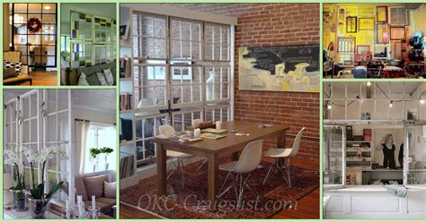 Garage Sale Okc by Repurposed Salvaged Windows Into Room Dividers