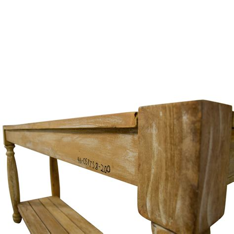 home goods accent tables 76 off homegoods homegoods natural wood console table