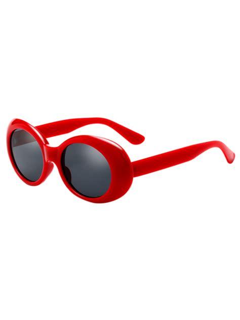 oval retro anti uv windbreak sunglasses sunglasses