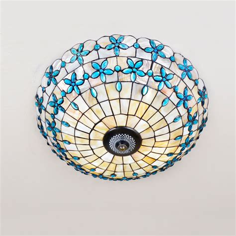 Online Get Cheap Stained Glass Ceiling Light Aliexpress Stained Glass Ceiling Lights