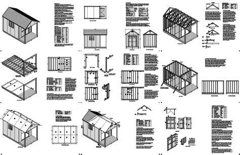 porch blueprints 14 x 8 cabin shed with porch plans blueprint p61408