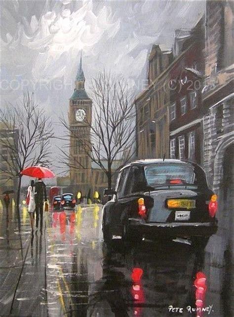 Lukisan Modern Big Ben pete rumney modern acrylic original painting big ben taxis
