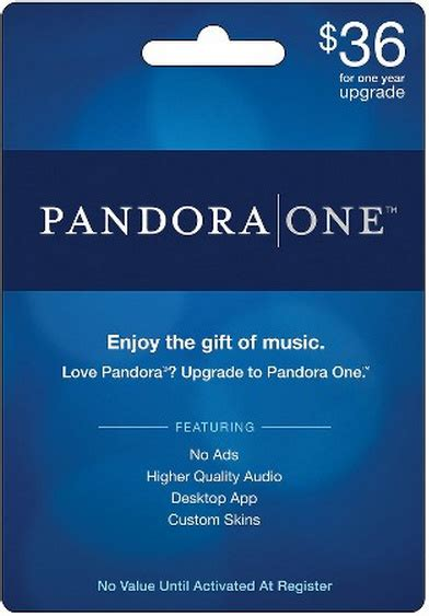 Gift Card All For One - 1 year pandora one gift card for as low as 34 20 with target red card