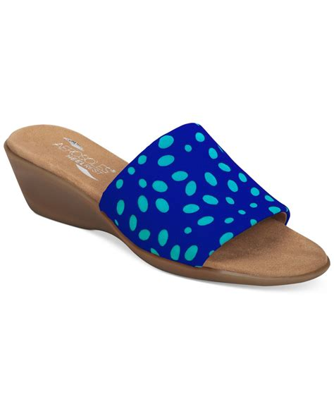 aerosoles badminton sandals aerosoles badminton wedge sandals in blue lyst