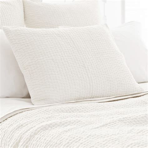 pch seychelles dove white quilted pillow sham modern