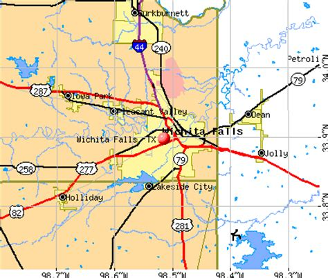 wichita texas map wichita falls texas map