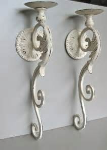 Large Wall Candle Sconce Large Candle Sconces Ivory Candle Holder Shabby Wall