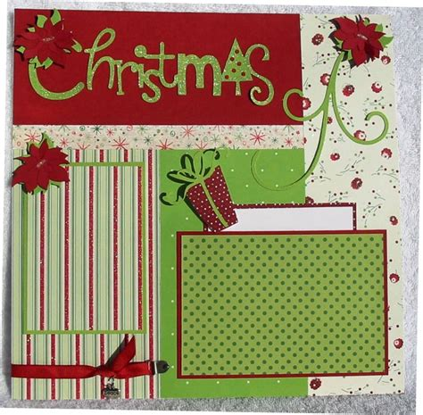 layout christmas scrapbooking pinterest