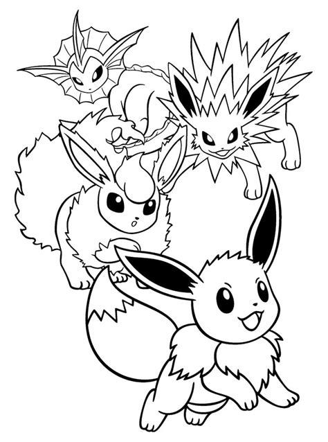 pokemon jolteon coloring pages printable images pokemon