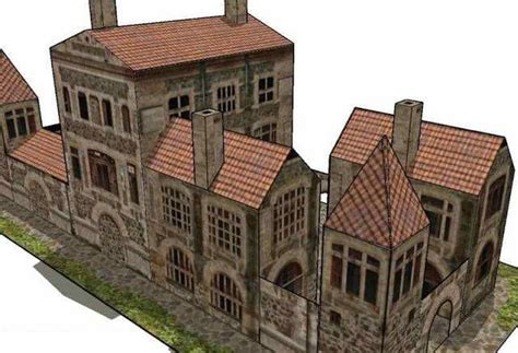 Papercraft Buildings - ancient villa free building paper model