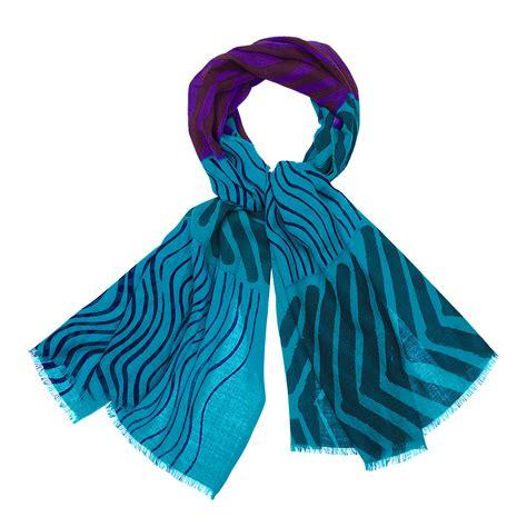 marimekko silkkikuikka turquoise violet scarf marimekko