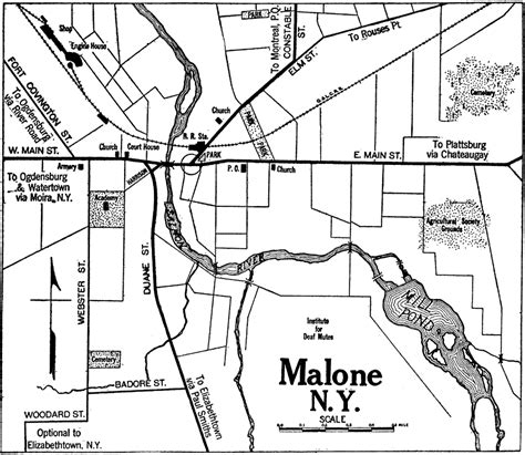malone ny map malone new york