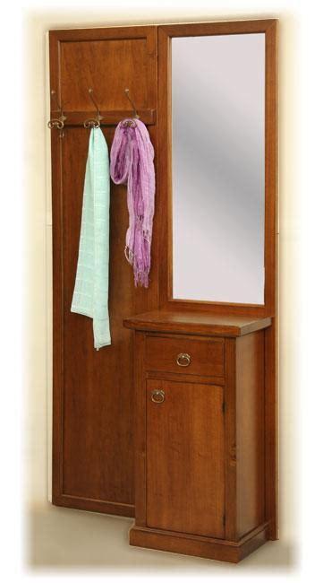 mobili ingresso arte povera con appendiabiti mobili ingresso corridoio specchio credenzina in legno