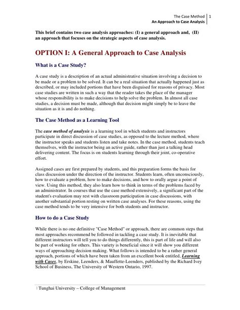 How To Write A Paper On A Case Study Case Study Descriptive Approach